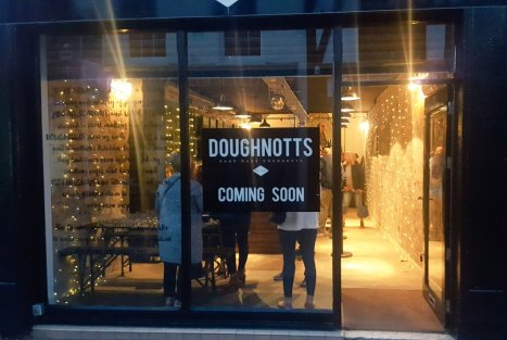 The front of Doughnotts in Sadler Gate, Derby