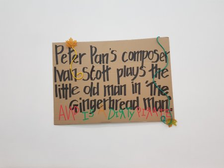Peter Pan's composer Ivan Scott plays the little old man in 'The Gingerbread Man'